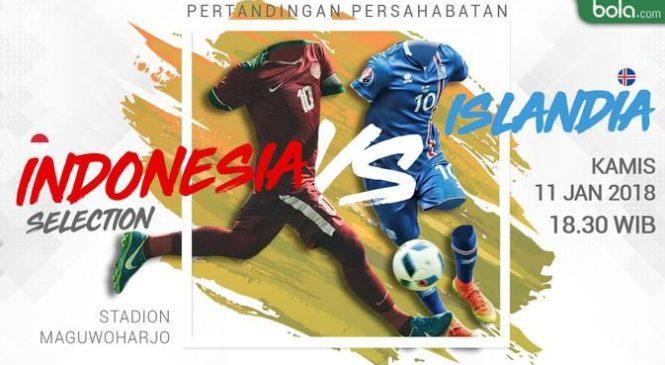 Prakiraan Susunan Pemain Indonesia Selection vs Timnas Islandia