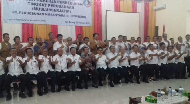 Tio Handoko ST.MM Terpilih Ketua SPBUN di Muslubserjatip PTPN III