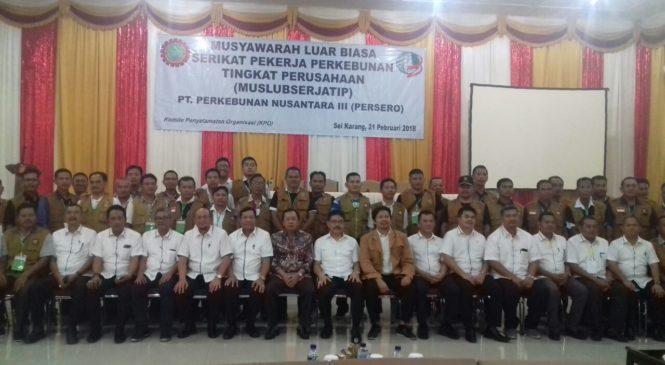 Direksi Holding PTPN III Harapkan SPBUN 2018-2022 Lebih Baik