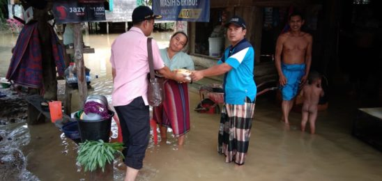 Pemerintah Desa Ujung Gading Sapa Warga Korban Banjir