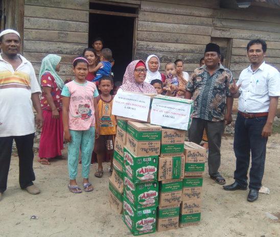 DPC Macan Asia Indonesia Labusel Peduli Korban Banjir di Labusel