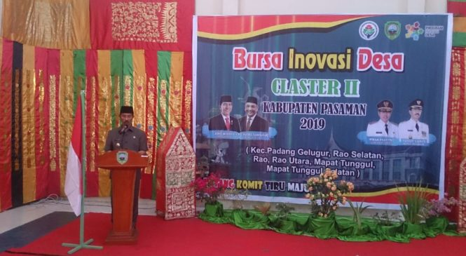 Pasaman Gelar Bursa Inovasi Desa / Nagari Claster II Tahun 2019