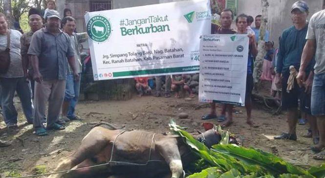 Dompet Dhuafa Singgalang Berbagi Hewan Kurban Di Ranah Batahan