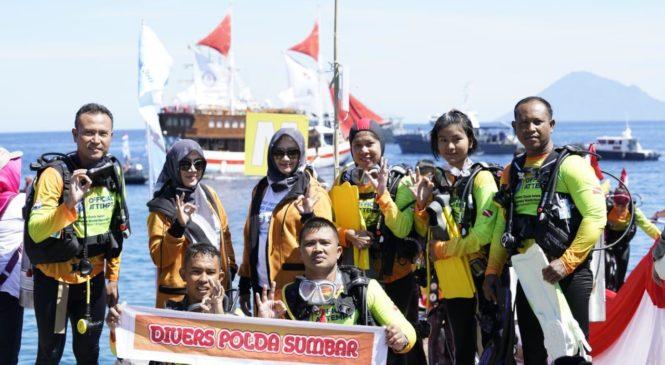 Polda Sumbar Ikuti Rekor Selam Dunia Terbanyak Di Manado