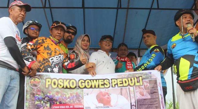 Ringankan Beban Natasya Sugara, Bupati Pasbar H. Yulianto Buka Fun Bike Dan Komunitas Gosai Peduli