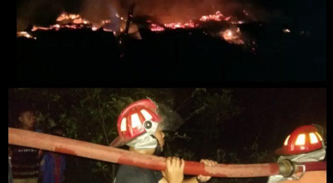 Diduga Konsleting Listrik, Rumah Warga Di Plasma III Terbakar