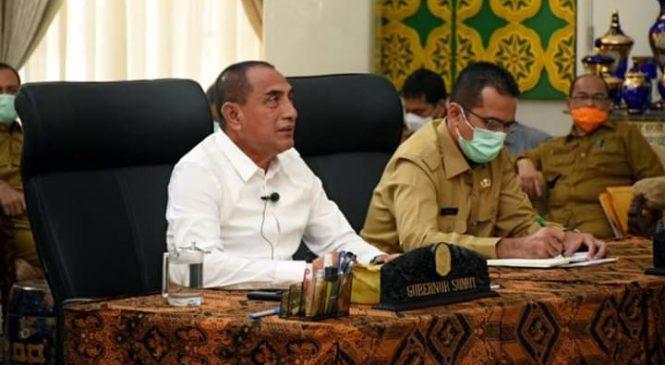 Gubernur Edy Akan Tambah Bantuan APD  dan Percepat Bantuan PKH