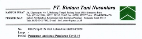 Antisipasi Penyebaran Covid-19, Incasi Raya Group Pasbar Larang Karyawan Mudik